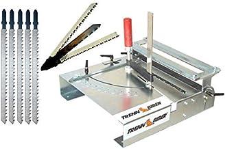 Trenn-Biber Mesa de sierra de calar 012LK - 3+5 hojas en T largas para sierra de calar, mesa de sierra para cortar laminados