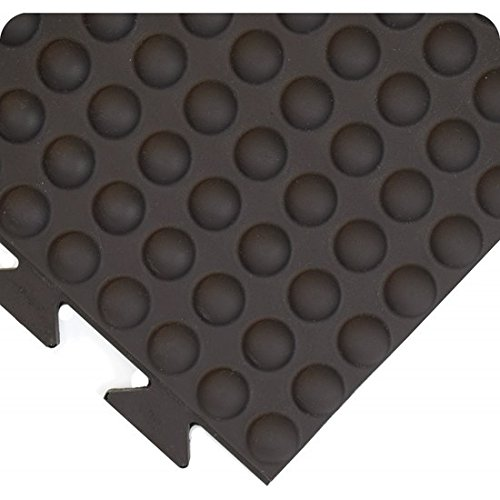 Wearwell 503,58x3BK Vitality gewelfde mat, in elkaar grijpende tegels, 91 x 91 cm, zwart