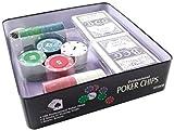 Poker Lot de 100 jetons de jetons en aluminium pour chips - Texas Hold'em Holdem
