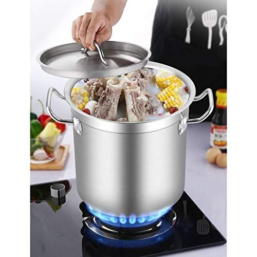 Pot Pot Bespaar tijd Lower Kitchen Temperatuur Composite Bottom, Grote Deep RVS Inductie Stock braadpan Stockpot Soep pan (Size : 25 * 25cm)