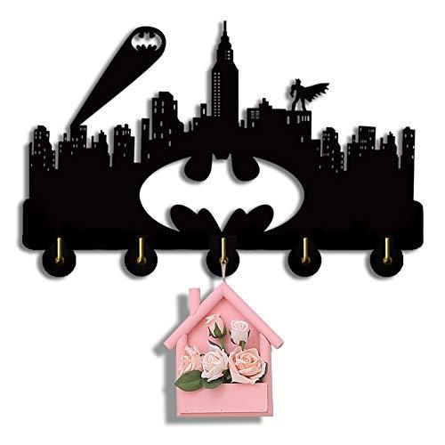 Batman Key Holder, Key Hanger, Wall Key Rack, Wall Key Holder, Key Holders, Personalized Gift, Home, Housewarming Gift, Wedding Gift (H8)