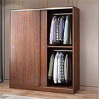 COLiJOL 家具ワードローブホームベッドルーム引き戸アパートキャビネット引き戸大型ワードローブ衣類収納クローゼット(色:茶色、サイズ:200X50X120Cm),褐色,200X50X120Cm