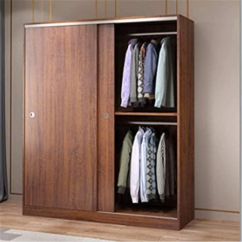 COLiJOL Möbler garderob hem sovrum skjutdörr lägenhet skåp skjutdörr stor garderob klädförvaring garderob (färg: Brun, storlek: 200 x 50 x 120 cm), brun, 200 x 50 x 120 cm