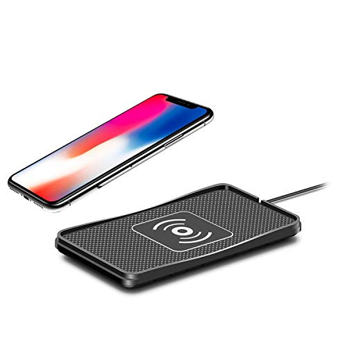 Nrpfell Non-Slip Fast Charging Wireless Car Charger Pad For Iphone X 8 8Plus Samsung S8/S8+/S7/S7Edge/ S6/ Edge/Note8/5