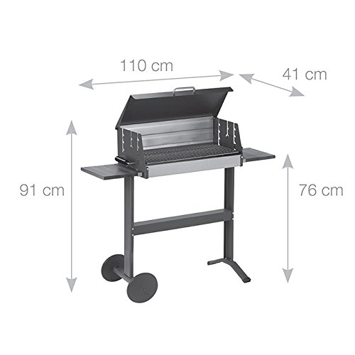 Dancook 5600 – Large Barbecue Box Grill with Grill Lid, Sidetables and Wheels.