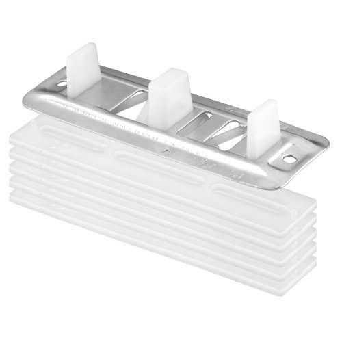 Prime-Line Products N 6661 Prime Line N-6661 Adjustable Floor Mount Guide and Carpet Riser, 1/8 in T X 5 in L, Plastic/Steel, quot , White