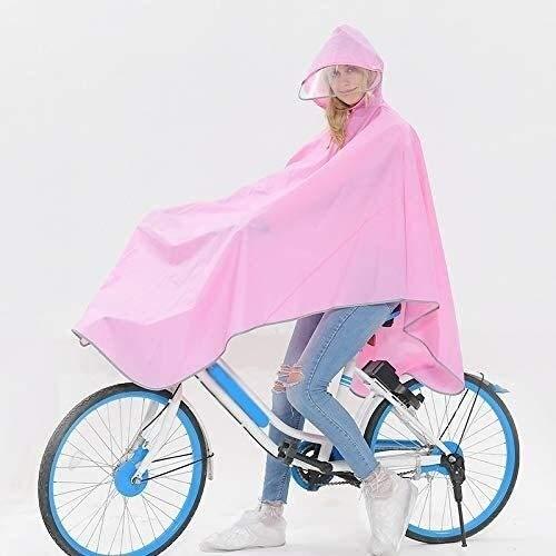 Shade Cloth Chubasquero Mujer Bicicleta Poncho de Lluvia, Ciclismo Poncho, a Prueba de Viento y Transpirable Riding Poncho, Apto for Motocicletas/Coches eléctricos SLZFLSSHPK (Size : Pink)