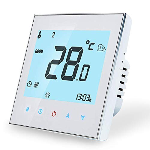 WiFi Smart Thermostat Kompatibel mit Alexa Google Home-Wireless-Raumthermostat für die Warmwasserbereitung, LCD-Touchscreen-Temperaturregler 3A