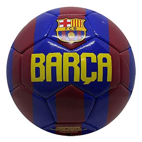 CASARI B.V. Balón de fútbol Infantil Barcelona n.º 2 2Var, Color Rojo y Azul, 5