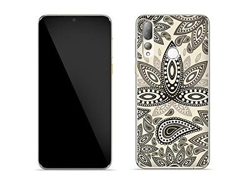 etuo Hülle für HTC Desire 19 Plus - Hülle Fantastic Hülle - Indische Muster Handyhülle Schutzhülle Etui Hülle Cover Tasche für Handy