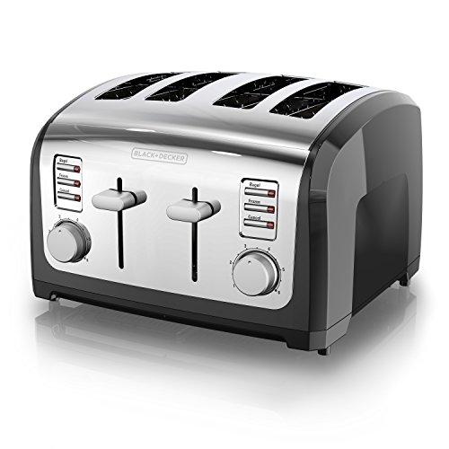 BLACK+DECKER 4-Slice Toaster, Stainless Steel, T4030