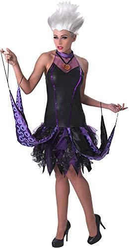 Disney La Sirenita ~ Sassy Ursula - adulto con licencia de vestuario Señora: L (Reino Unido 16-18) * peluca no está incluido