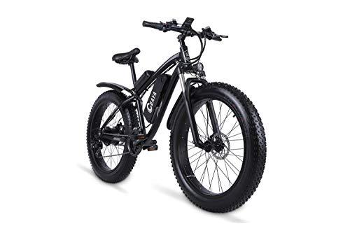 "Ceaya Elektrofahrräder 1000W 48V Offroad Fat 26 ""4.0 Reifen E-Bike Electric Mountainbike mit Rücksitz"