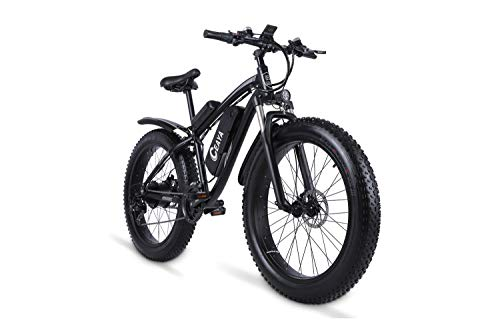 "Ceaya Electric Bikes 1000W 48V Offroad Fat 26 ""4.0 Tires E-Bike Electric Mountain Bike with Back Seat"