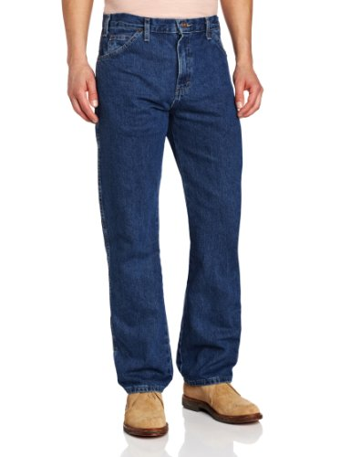 Dickies Men's Regular Straight Fit 6 Pocket Jean, Stone Washed, 34x30