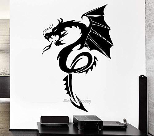 56X84Cm Nuevas Llegadas Dragon Myth Wall Decal Movie Fantasy Monster Cool Boy Rooms Home Interior Decor Art Mural Adesivo De Parede La593