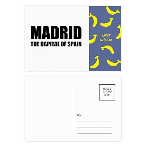 Madrid, The Capital of Spain Banana Postkarten-Set, Danksagungskarte, Postkarte, 20 Stück