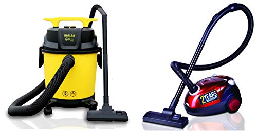 Inalsa Vacuum Cleaner Wet and Dry Micro Suction and Impact Resistant Polymer Tank, Vacuum Cleaner for Home