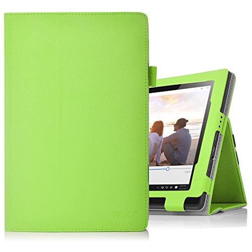Lenovo Miix 310 hülle, IVSO hochwertiges PU Leder Etui hülle Tasche Hülle - mit Standfunktion,super 360° Anti-Wrestling, ist für Lenovo Miix 310 25,65 cm (10,1 Zoll HD) Tablet PC ideal geeignet, Grün