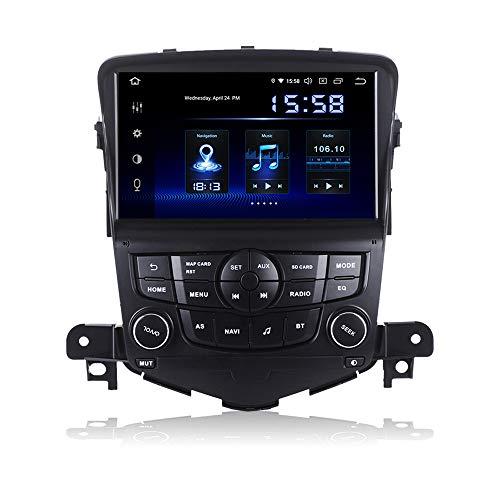 Dasaita 8 Zoll Android 9.0 1 Din Autoradio mit Navi mit DSP 4G RAM 64G ROM für Chevrolet Cruze 2008 2009 2010 2011 Bluetooth Radio Auto Unterstützung WiFi DAB+ Carplay USB Lenkradsteuerung FM/AM