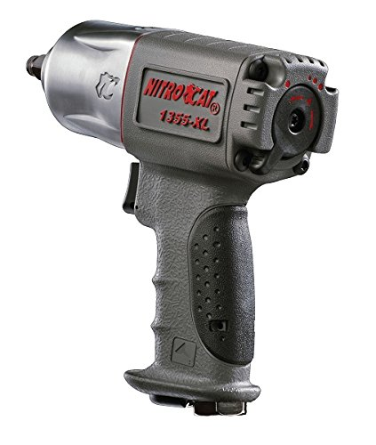 NitroCat 1355-XL 3/8-Inch Composite Air Impact Wrench With Twin Hammer Mechanism
