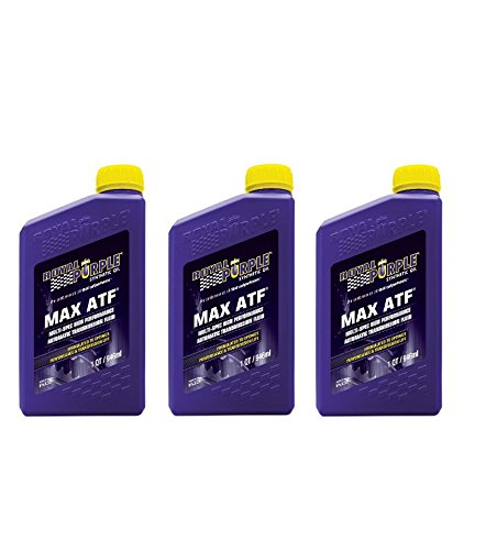 Royal Purple 01320 / 301143 Max ATF Synthetic High Performance Automatic Transmission Fluid with High Film Strength - 1 qt (Case of 3)