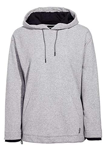 Chiemsee Damen Oversize Fleece Pullover mit 3D Logo Fleecejacke, Neutral Gray, S