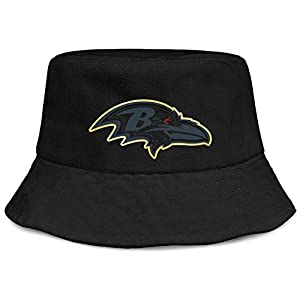 LHSCVUFASC Special Bucket Boonies Big Size Fisherman Hats Baltimore Ravens Travel Caps Fashion Golf