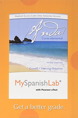 MyLab Spanish with Pearson eText -- Access Card -- for ¡Anda! Curso elemental (one semester access) (3rd Edition)