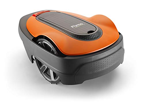 Flymo EasiLife 500 Robotic Lawn Mower - Cuts Upto 500 sq m Ultra Quiet Mowing, Manicured Lawn, Bluetooth Application Control, Safety Sensors, Hose Washable, Lifestyle Functions, Frost Sensor