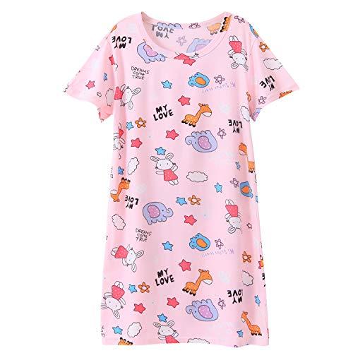 Camicia da notte da bambina con colletto rotondo in poliestere, morbido e carino animale principessa Zoo. 11-12 Anni