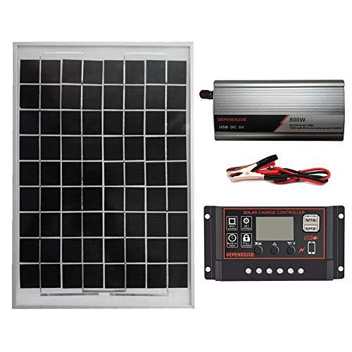 Blue-Yan AC230V 800W Solaranlage, Verpolungsschutz LCD Wechselrichter Controller Solarpanel Regler Laderegler Komponente