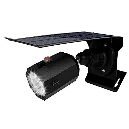 origin 屋外用ソーラーLED センサーライト ソーラー 電源不要 高輝度LED10灯 動体センサーで自動点灯 夜間常時点灯可 IP65防滴 防犯に セキュリティライト ダミーカメラ型 RSTD10LED