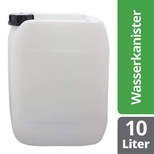 S-Pro Wasserkanister Trinkwasser mit Schraubverschluss, Lebensmittelecht, 10l für Haus, Garten und Camping Wasserbehälter, leer