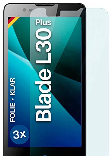 moex [3 Stück] Schutzfolie kompatibel mit ZTE Blade L3 Plus Bildschirmfolie Hüllen-Fre&lich, 0.2 mm dünne Bildschirmschutzfolie, Display Schutz extra Kratzfest - HD Ultra-Klar