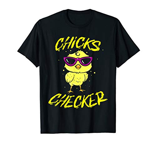 Design eines Kükens Chicks Checker Hühner Huhn Chicken T-Shirt