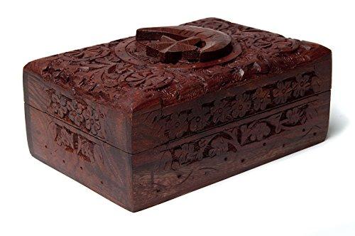 Find Something Different Estrella y Luna Tarot de Madera Tallada Caja, bambú