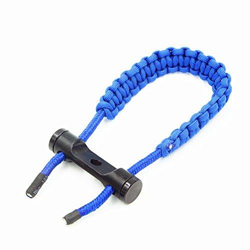 ACHICOO Arco de tiro de arco correa de mano ajustable trenzado cuerda para Compound arco caza supervivencia caza tiro, azul