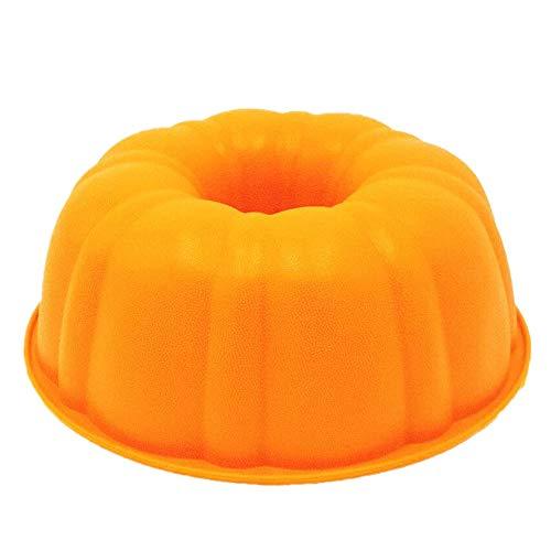 KeepingcooX® Moule à kouglof Ø25 cm Savarin, Moule à gâteau en forme de citrouille | Moule à gâteau cannelé en silicone de 22,9 cm | Moule de cuisson rond profond | Anti-adhésif | Sans BPA 25 x 9 cm