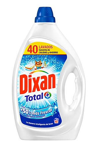 Dixan Detergente Líquido Total para Lavadora - 40 Lavados (2 L)