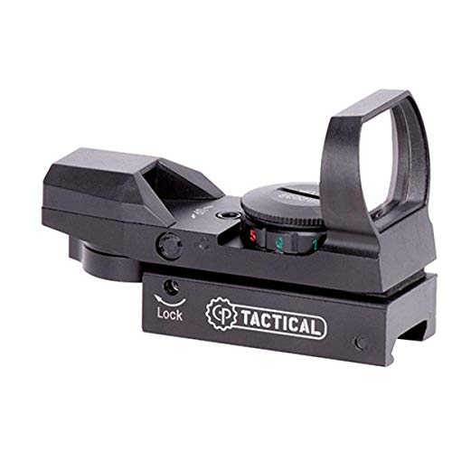 CenterPoint Optics 70301 Red/Green 32mm Open Reflex Sight With 4 Reticles 32mm For Picatinny Mount