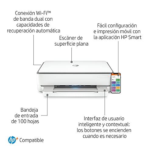 Impresora Multifunción HP Envy 6020e - 6 meses de impresión Instant Ink con HP+