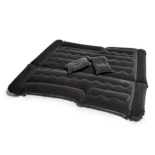 LARP LINK Car Air Mattress - Camping Accessories - Inflatable Travel Bed - Special Design - SUV/Minivan/Tent - Car Lighter Air Pump - Inflate/Deflate Quickly - Two Bonus Pillows - Comfortable Travel