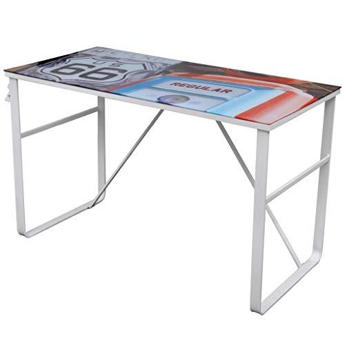 vidaXL Bureau rectangulaire unique Table de bureau Tables d'ordinateur