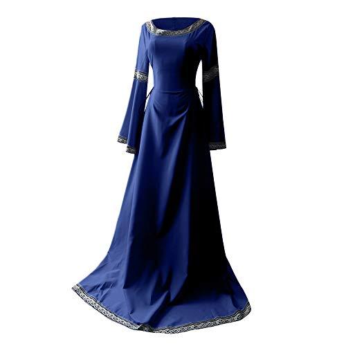 Damen Langarm Mittelalter Kleid Vintage Kostüm Gothic Retro Kleid Renaissance Cosplay Kostüm Prinzessin Kleid Lange Abendkleid Flare Sleeve Retro Mittelalterliches Kleid Von Allence