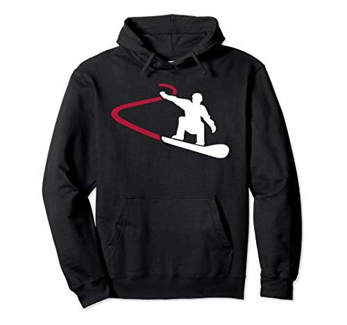 Snowboard Rennen Pullover Hoodie