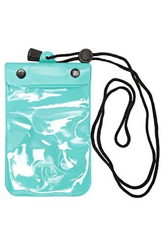 Mountain Warehouse Petite Pochette imperméable à l'eau, au Sable et à la poussière - Compatible avec écran Tactile, rembourrée - Sangle de Cou - Voyages Vert Taille Unique