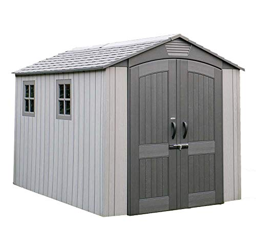 LIFETIME Kunststoff Gerätehaus Terra 213x356 cm grau Gartenhaus Fahrradgarage Gartenhütte Geräteschuppen