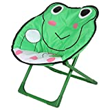 Unbekannt Kindersessel Kinderstuhl Kindermöbel Camping Klappstuhl Gartenstuhl Faltstuhl, Motiv:Frosch