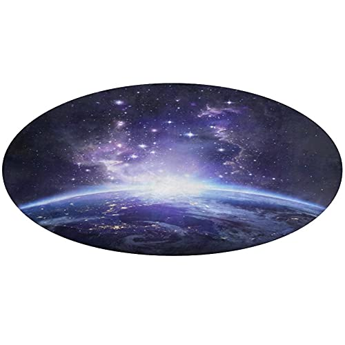 Alfombrilla de entrada con respaldo de goma para alfombra de interior/exterior/puerta delantera/cuarto de baño antideslizante trampas suciedad y líquido 24 pulgadas/60 cm Galaxy Purple Universe